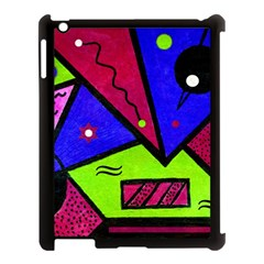 Modern Art Apple Ipad 3/4 Case (black)