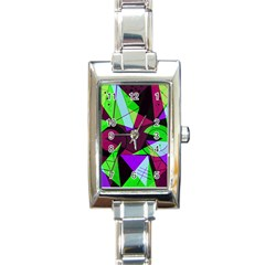 Modern Art Rectangular Italian Charm Watch