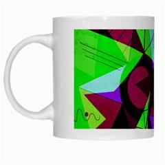 Modern Art White Coffee Mug