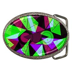 Modern Art Belt Buckle (oval)