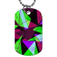 Modern Art Dog Tag (one Sided)