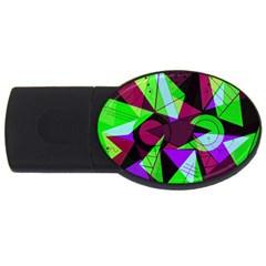 Modern Art 1GB USB Flash Drive (Oval)