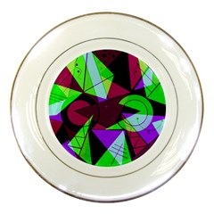 Modern Art Porcelain Display Plate