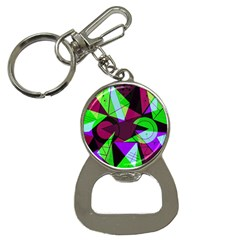 Modern Art Bottle Opener Key Chain
