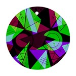 Modern Art Round Ornament (Two Sides) Back