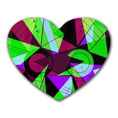 Modern Art Mouse Pad (heart)