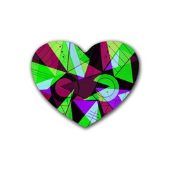 Modern Art Drink Coasters 4 Pack (heart)