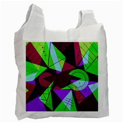 Modern Art Recycle Bag (two Sides)