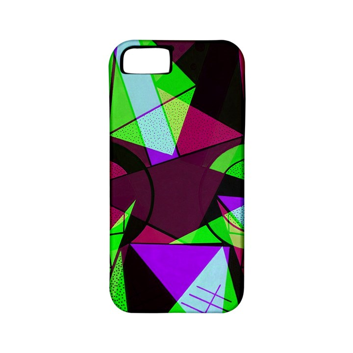 Modern Art Apple iPhone 5 Classic Hardshell Case (PC+Silicone)