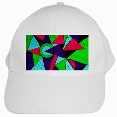 Modern Art White Baseball Cap
