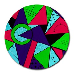 Modern Art 8  Mouse Pad (Round)