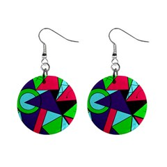 Modern Art Mini Button Earrings