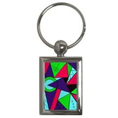 Modern Art Key Chain (rectangle)