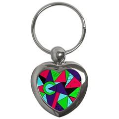 Modern Art Key Chain (heart)