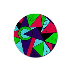Modern Art Drink Coaster (round)
