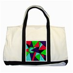 Modern Art Two Toned Tote Bag Front