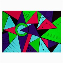 Modern Art Glasses Cloth (large, Two Sided)