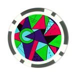 Modern Art Poker Chip 10 Pack Back