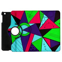 Modern Art Apple Ipad Mini Flip 360 Case