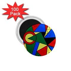 Modern Art 1 75  Button Magnet (100 Pack)