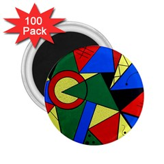 Modern Art 2.25  Button Magnet (100 pack)