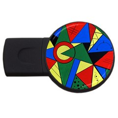 Modern Art 1GB USB Flash Drive (Round)