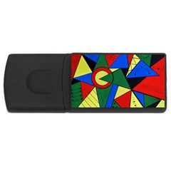 Modern Art 2GB USB Flash Drive (Rectangle)