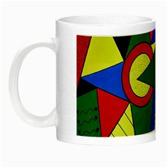 Modern Art Glow in the Dark Mug