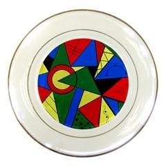 Modern Art Porcelain Display Plate