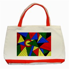 Modern Art Classic Tote Bag (Red)