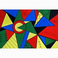 Modern Art Canvas 12  X 18  (unframed)