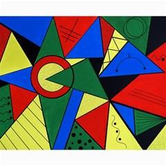 Modern Art Canvas 16  x 20  (Unframed)