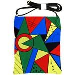 Modern Art Shoulder Sling Bag Front