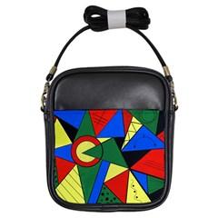 Modern Art Girl s Sling Bag