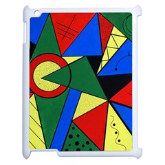 Modern Art Apple Ipad 2 Case (white)