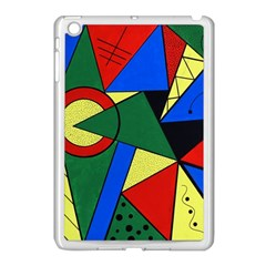 Modern Art Apple iPad Mini Case (White)