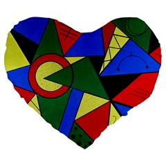 Modern Art 19  Premium Heart Shape Cushion