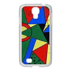 Modern Art Samsung Galaxy S4 I9500/ I9505 Case (white)