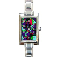 Balls Rectangular Italian Charm Watch