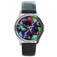 Balls Round Metal Watch (silver Rim)
