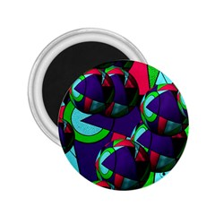 Balls 2.25  Button Magnet