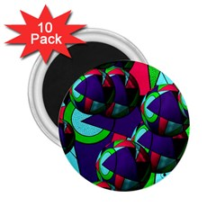 Balls 2 25  Button Magnet (10 Pack)