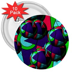 Balls 3  Button (10 Pack)