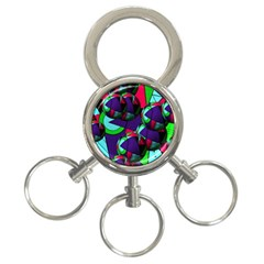 Balls 3 Ring Key Chain