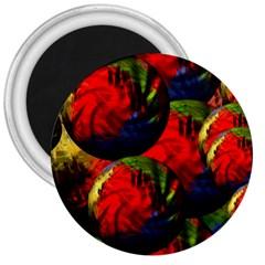 Balls 3  Button Magnet