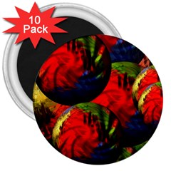 Balls 3  Button Magnet (10 pack)