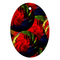Balls Oval Ornament (Two Sides)