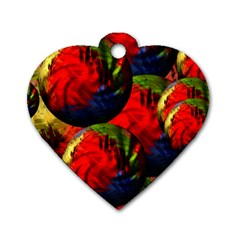 Balls Dog Tag Heart (Two Sided)