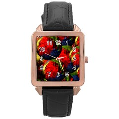 Balls Rose Gold Leather Watch