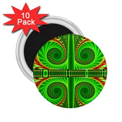Design 2 25  Button Magnet (10 Pack)